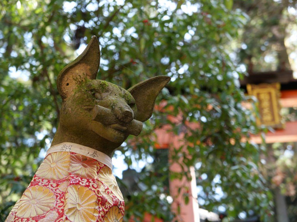 Fushimi Inari Fox Statue