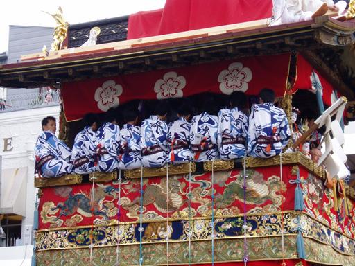 Gion Matsuri 2005 - A crowded float