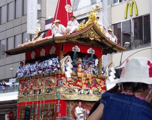 Gion Matsuri 2005 rolls by McDonalds