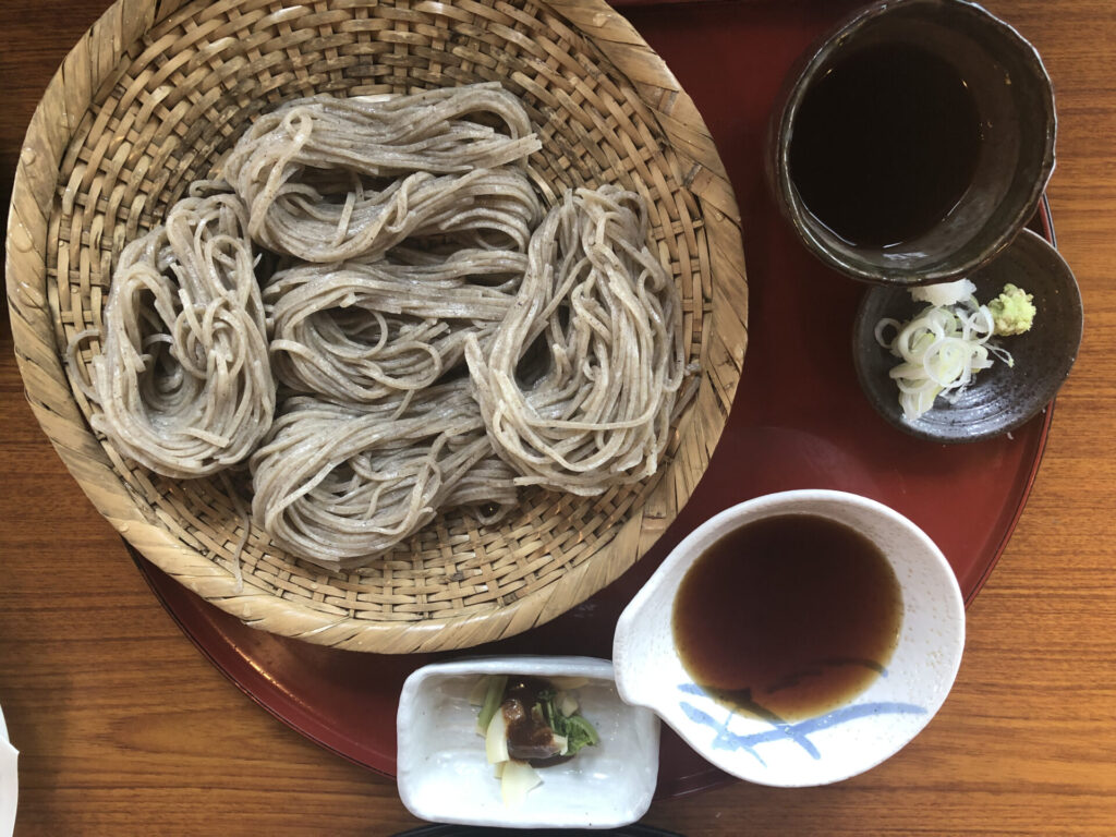 Inaka Soba at Soba restaurant Yamatoan on Mt. Yoshino