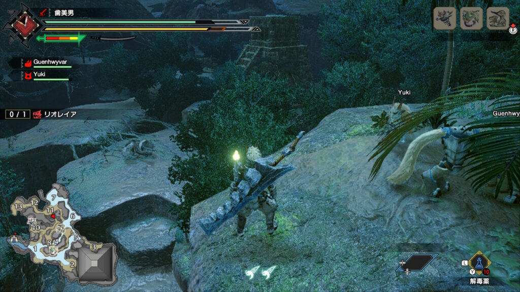 Monster Hunter View of Liolaeus from a Cliff